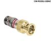 CONNECTEC BNC RG59 CATV (Gold) -- CM-RG59U-GBNC