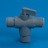 Three-way 326 PVC Ball Valve 1/4