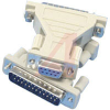 connector,d-sub,gender adapter,9 socketcontact receptacle to 25 pin cont plug -- 70081415