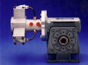 Dynatork Free Piston Air Motor with Worm Gearbox -- 60W3