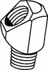 Tube to Pipe Elbow 45° -- 352-03-02 - Image