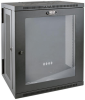 SmartRack 15U Low-Profile Switch-Depth Wall-Mount Rack Enclosure Cabinet with Clear Acrylic Window, Hinged Back -- SRW15USG -- View Larger Image