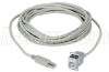 USB Type B Coupler, Female Bulkhead/Male, 24