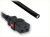 BLUNT CUT to IEC-60320-C19 AUTO-LOCK HOME • Power Cords • IEC/Jumper Power Cords • Auto-Lock -- 0136.180AL - Image