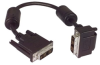 DVI-D Single Link DVI Cable Male / Male Right Angle, Bottom, 3.0 ft -- MDA00022-3F -Image