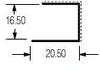 Polycarbonate Clear Extruded Endcap U #215 -- View Larger Image