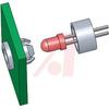 Spacer, LED; 0.26 in. (Clip), 0.16 in. (Ring); Nylon 6/6; T 1-3/4 Series LED -- 70208736 - Image