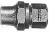 Straight Coupling With I.p. Threaded Copper Flare Connection -- H-15452N