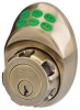 Keypad deadbolt Schlage E Antique Brass -- 5RAT5