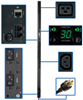 TAA Compliant Single-Phase Monitored PDU, 5/5.8kW 30A 208/240V, 0U Vertical Rackmount, 20 C13 and 4 C19 Outlets, NEMA L6-30P Input Plug -- PDUMNV30HVTAA