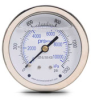 0-1500 psi Liquid filled Pressure Gauge with 2.5 inch mechanical dial -- G25-SL1500-4CB - Image