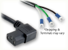 ROJ SPECIAL to IEC-60320-C13 RIGHT ANGLE HOME • Power Cords • IEC/Jumper Power Cords • Domestic -- 0129.072SD -Image