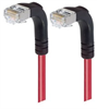 Category 6 Shielded LSZH Right Angle Patch Cable, Right Angle Down/Right Angle Down, Red, 25.0 ft -- TRD695SZRA3RD-25 -Image