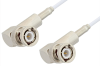 BNC Male Right Angle to BNC Male Right Angle Cable 24 Inch Length Using RG188 Coax -- PE3351-24 -Image