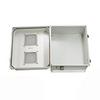 14x12x07 Fiberglass Reinf Polyester FRP Weatherproof Outdoor IP24 NEMA 3R Enclosure, Modified Base Vented Lid Gray -- TEF141207-03V -Image