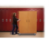 Repositionable Transporter Teacher's Cabinet