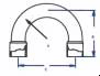 Brazetyte® 180° Return Bend -- 180FF-6 - Image