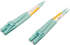 10 Gb/100 Gb Duplex Multimode 50/125 OM4 LSZH Fiber Patch Cable (LC/LC), Aqua, 15 m (50 ft.) -- N820-15M-OM4 - Image