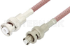 MHV Male to SHV Plug Cable 72 Inch Length Using RG142 Coax -- PE3085-72 -Image