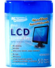 Wipes, LCD screen cleaning, English/French label, tub of 50 wipes, travel, 8x10. -- 70125724 -- View Larger Image
