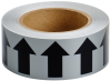 Brady B-946 Black on Gray Directional Flow Arrow Tape - 2 in Width - 30 yd Length - 91419 -- 754476-91419 - Image