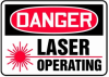 Danger Laser Operating Sign -- SGN932 - Image