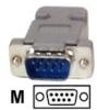 DB9 SERIAL MALE D-SUB CRIMP CONNECTOR -- C9PCM