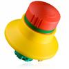 Emergency Stop Push Button, Illuminated Blocking Collar -- NHT04D - Image