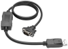 DisplayPort to Active VGA Cable, DisplayPort with Latches to HD15 Adapter (M/M), 3-ft. -- P581-003-VGA - Image