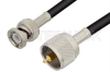 UHF Male to BNC Male Cable 24 Inch Length Using RG58 Coax, RoHS -- PE3057LF-24 -Image