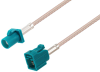 Water Blue FAKRA Plug to FAKRA Jack Cable 200 cm Length Using RG316-DS Coax -- PE3C6042-200CM -Image