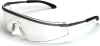 Crews Triwear Metal Safety Glasses with Clear Anti-Fog Lens -- T3110AF