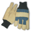 Pigskin Leather Palm with Thinsulate(R) Lining, Striped Fabric Back & Heavy Knitwrist, Medium -- 616314-09846