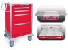 4 Drawer Tall Lightweight Aluminum Crash Cart -- UTRLA-33912-RED