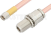 SMA Male to N Female Bulkhead Cable 48 Inch Length Using RG401 Coax, RoHS -- PE34157LF-48 -Image