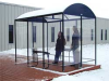 Smoking Shelter,4-Side,80 Hx43Wx168 In L -- 8CMZ3