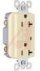 Receptacle, Specification Grade GCFI, 20 Amps, 125 VAC, 5-20R NEMA Config, Ivory -- 70050624