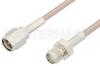 SMA Male to SMA Female Cable 72 Inch Length Using 75 Ohm RG179 Coax, RoHS -- PE3102LF-72 -Image