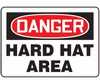 Safety Sign, Danger - Hard Hat Area, 10