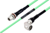 Temperature Conditioned N Female Bulkhead to N Male Right Angle Low Loss Cable 36 Inch Length Using PE-P300LL Coax -- PE3M0251-36 -Image