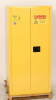 Eagle 55 gal Yellow Hazardous Material Storage Cabinet - 31 1/4 in Width - 65 in Height - Bench Top - 048441-33330 -- 048441-33330