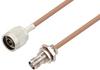 N Male to TNC Female Bulkhead Cable 200 cm Length Using RG400 Coax -- PE3W07264-200CM -Image