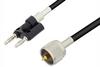 UHF Male to Banana Plug Cable 12 Inch Length Using RG223 Coax -- PE34244-12 -Image