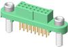 10+10 Pos. Female DIL Vertical Throughboard Conn. Screw-Lok Reverse Fix Board Mount (T+R) -- G125-FV12005F3R - Image