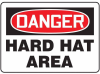 Danger: Hard Hat Area Signs -- GO-50710-12