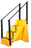 Dixie Yellow 4-Step Stool with Hand Rails -- 13282