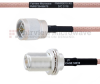 N Male to N Female Bulkhead MIL-DTL-17 Cable M17/60-RG142 Coax in 36 Inch -- FMHR0010-36 -Image