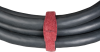 """10-Pack Maroon 1.5""""x8"""" Hook and Loop Flame Retardant Cable Wrap -- FT270-R2 -- View Larger Image"""