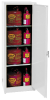 Flammable Liquid Safety Storage Manual Close Cabinet -- CAB136-WHITE