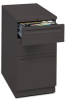 Mobile Box/Box/File Pedestal, Recessed Pull, 22-7/8d, Black -- HON18723KP